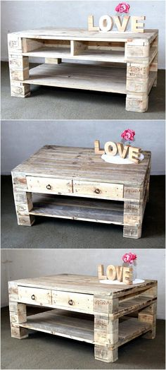 An empty area in a home looks weird, so every area should be decorated. Here is an idea of making table with the drawers; it has a place to place the decorative items as well as it allows storing the objects that are used often.