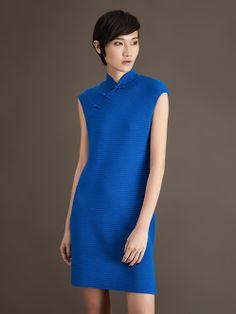 Wool Ottoman Qipao Dress - Shanghai Tang