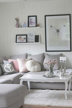 Grey With Pink Decoration