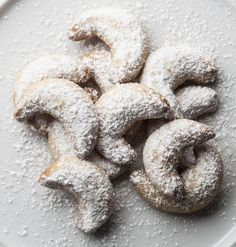 This recipe for Czech vanilla crescents or vanilkove rohlicky is popular year-round but especially at Christmas time as part of Christmas sweets.