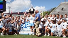 ACC Champs! The #UNC women's lacrosse team beat Syracuse 15-14 in OT to win the ACC Title! TARgram #GDTBATH Photo credit: Andy Mead. @goheels by uncchapelhill