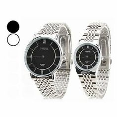 Tanboo Couple Style New Unisex Steel Analog Quartz Wrist Watch (Silver) by Tanboo. $65.99. Casual Watches Feature Water Resistant. Women's, Men's Watche. Couple's Watches. Gender:Women's, Men'sMovement:QuartzDisplay:AnalogStyle:Couple's WatchesType:Casual WatchesFeature:Water ResistantBand Material:SteelBand Color:SilverCase Diameter Approx (cm):4Case Thickness Approx (cm):0.6Band Length Approx (cm):19Band Width Approx (cm):2