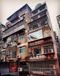 Birdcage apartments #macau #macao #travel #cityscape #house #building #habitat (à Macao China)