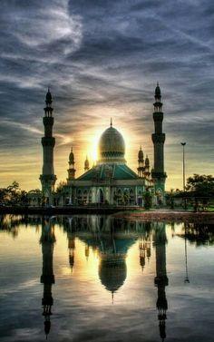 Kampong Pandan Mosque in Kuala Beliat, Brunei Darussalam