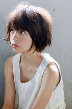 35 new Ideas for hair short thin girls Girl Short Hair, Short Girls, Short Hair Cuts, Short Hair Styles, Asian Short Hair, Girl Face, Woman Face, Corte Y Color, Cute Hairstyles