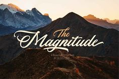 THE MAGNITUDE script by Olexstudio on @creativemarket
