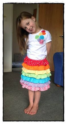 Arty crafty rainbow birthday party - birthday outfit