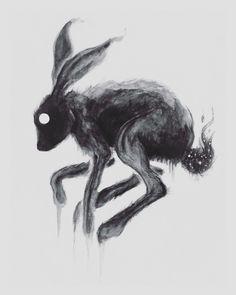 "2,063 Likes, 23 Comments - Brian Serway (@bserway) on Instagram: ""'Ricochet' / watercolor on board, 6x8"" #rabbit #blackmass . . . . . . #art #illustration #artwork…"""