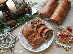 Tönkölylisztes reform bejgli | Pálmafa Project Sausage, Muffin, Healthy Recipes, Cheese, Meat, Breakfast, Projects, Cukor, Advent