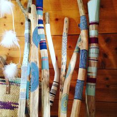 Etsy - Shop for handmade, vintage, custom, and unique gifts for everyone Spirit Sticks, Painted Driftwood, Driftwood Crafts, Driftwood Jewelry, Stick Art, Deco Boheme, Creation Deco, Painted Sticks, Sticks And Stones