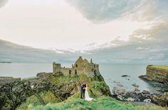 Dunluce Castle in Ireland for a wedding venue.