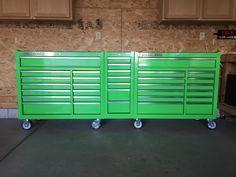 44 in. x 22 In. Tool Box Storage, Garage Storage Solutions, Diy Garage Storage, Shop Storage, Garage Loft, Garage Tools, Garage Workshop, Workshop Organization, Garage Organization