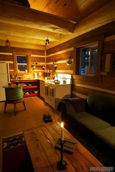 A small post and beam cabin in British Columbia