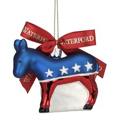 Waterford Holiday Heirlooms Democratic Donkey, Christmas Ornament >>> Be sure to check out this awesome product. (This is an affiliate link) #NaturalHomeDecor