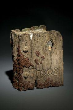 Ceramic Trompe L'Oeil Book of Trees Sculpture by Eric Serritella