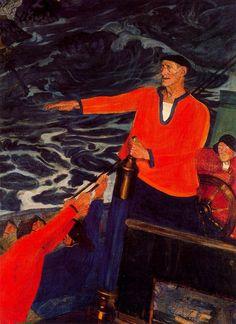 The Basque seaman Shanti Andia by Ramon de Zubiaurre Ramones, Bilbao, Anime Comics, Basque Country, Realism Art, Romanticism, Beautiful Paintings, Spain, Colourful Art