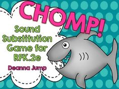 CHOMP!  Sound Substitution Game FREEBIE Common Core Aligned