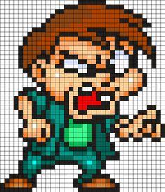 Montana Max - Tiny Toon Adventures Perler Bead Pattern
