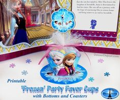 Printable FROZEN PARTY Decorations, Frozen Party Pack, Frozen Birthday, FROZEN Party Favor Treat Cups or Cupcake Wrappers, Frozen Printables by DetourDuJour on Etsy