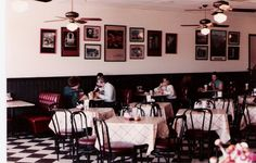 Our black and white decor in the 1980s.