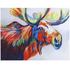 Loon Peak Acrylic Moose Painting Print on Canvas | Wayfair