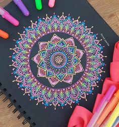 By @forat.works ・・・ Black paper & gelly roll mandala🌸💓 . . . . . #artmg03 #artzworld #mandalas #dailyart #artist #artdaily #watercolor #arts_spotlight #zenart #gellyroll #gellyrollpens #sakuraofamerica #drawing #young_artists_help #mandala_sharing #mandalamaze #mandalalovers #mandalapassion #mandalaart #mandalaartist #artistic_dome #young_artists_help #artistic_unity_ #كوبيك #جيلي_رول #زخارف #mandala #mizu_art