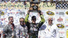 Carl Edwards wins his first road course race, at Sonoma (Sprint Cup race, 6/22/14)