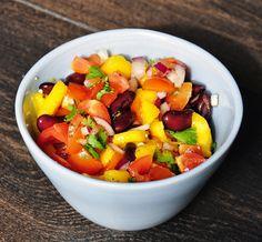 Mango Bean Salsa. Eat with homemade tortilla chips or as a salad. #recipes
