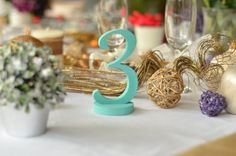 Rustic wedding numbers by SunFla Even the simplest touches can be striking. Take a look at these 20 ideas for wedding table decorations.