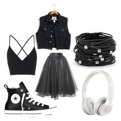 """""""Untitled #393"""" by emilyolson2019 on Polyvore featuring Relaxfeel, Topshop, Converse, Beats by Dr. Dre and Chico's"""