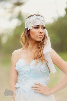 Claudette  Bridal Headpiece  Crystal & Pearl Boho by StellasDesign, $146.00