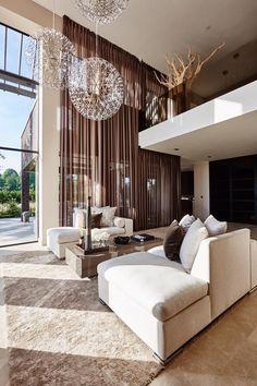 #livingroom #luxurydesign | Metropolitan Luxury: Interior design by Dutch interior designer Eric Kuster