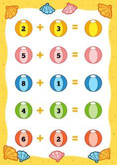 Photo from album Printable Preschool Worksheets, Kindergarten Math Worksheets, Writing Worksheets, Preschool Math, English Grammar For Kids, Math Sheets, Montessori Math, Math Addition, Interactive Learning