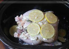Slow Cooker Buttered Lemon Herb Rotisserie Chicken Recipe on Yummly