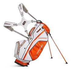 Featuring a cart friendly bottom these womens 2014 four 5 golf stand bags by Sun Mountain also offer fourteen individual full length dividers to protect clubs