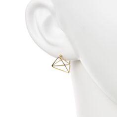 STAR JEWELRY  TRIANGLE PIRECED EARRING(M): ピアス