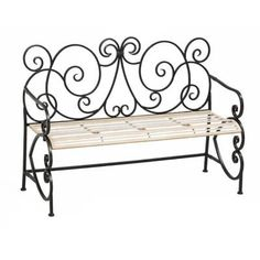 Update the home garden with this unique garden bench. Its metal seat and frame, intricate design backrest and European style make it a fit for modern and classic-style gardens. It measures approximately 50 in. x 20 in. Outdoor Seating, Outdoor Decor, Outdoor Living, Outdoor Spaces, European Fashion, European Style, Iron Bench, Classic Garden, Oriental Furniture