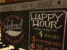 LYFE Kitchen, Happy Hour Chalkboard Signage Fall 2015     Streeterville :: Chicago