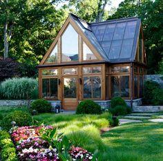 Rustic Modern Greenhouse