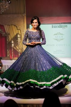 Asian Wedding Fashion Bridal Lengha Gown from Ayah Couture Check out this great fashion look I found on www.AsianBride.me