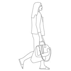 Woman walking with bag