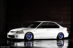 1996-1998 Honda Civic Sedan lowered with BYS front bumper