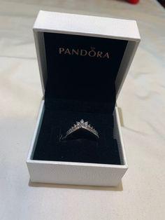 Pandora princess wish ring tiara/crown size 7 comes with box Pandora Rings, Pandora Bracelets, Pandora Jewelry, Pandora Charms, Cute Jewelry, Jewelry Accessories, Tiara Ring, Ring Necklace, Fashion Rings
