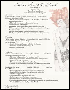 fashion resume example