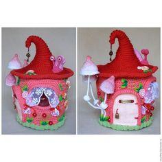 Кукольный дом ручной работы. Ярмарка Мастеров - ручная работа. Купить Домик для гномика. Handmade. Розовый, сказочный домик, улитка