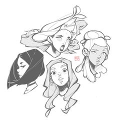 Sketching II by ccaru on DeviantArt Cute Drawings, Drawing Sketches, Arte Sketchbook, Cartoon Art Styles, Illustrator, Art Reference Poses, Character Drawing, Character Design Inspiration, Art Tutorials