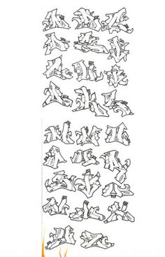 Printable Graffiti Alphabet A To Z Alphabets With Freestyle And Wildstyle