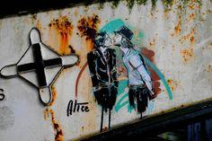Alice Pasquini Stencil Art in Manchester - StreetArt101