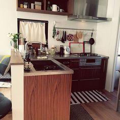 のカウンターキッチン DAY/食洗機 ハーマン/造作キッチン/L字型キッチン/キッチン…などについてのインテリア実例を紹介。「オープンキッチン」(この写真は 2015-01-30 20:50:44 に共有されました)