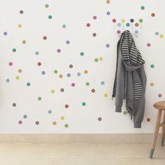 Kids wall hook - tresxics Penjador Dots colors + 10 cercles